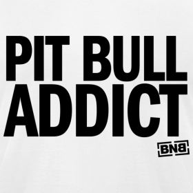 Design ~ Pit Bull Addict Men's Tee (White)