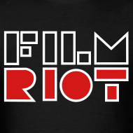 Design ~ Film Riot Men's Black Tee