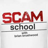 Design ~ Scam School Men's White Tee