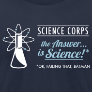 Design ~ Science Corps - The Answer (Navy Men's AA)
