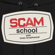 Design ~ Scam School Men's Black Hoodie
