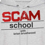 Design ~ Scam School Men's Grey Hoodie