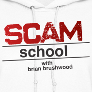 Design ~ Scam School Ladies White Hoodie