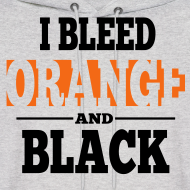 Design ~ I Bleed Orange and Black Hoodie - Ash Grey