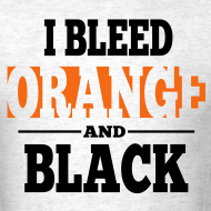 Design ~ I Bleed Orange and Black Shirt - Ash Grey