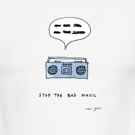 Design ~ Stop the bad music - Men's ringer tee