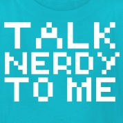 Computer humor- in Pixel TALK NERDY TO ME Kids' Shirts