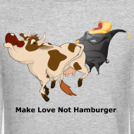 Design ~ Make Love not Hamburger - Men's Sweatshirt