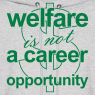 Design ~ Welfare is not a Career Opportunity - Men's Hoodie