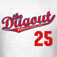 Design ~ WordUpThome #25 (Jim Thome) Phillies Dugout T (Ash)