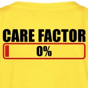 CARE FACTOR 0% progress bar Kids' Shirts