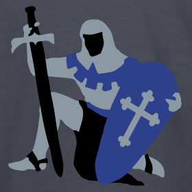 Design ~ Knight kneeling Medieval design by patjila2