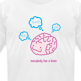 Design ~ Happy Brain Ingredients Men's T-Shirt - White