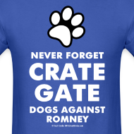 Design ~ Official Dogs Against Mitt Romney Dog On Roof T-Shirt