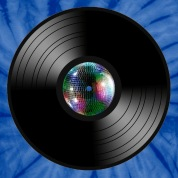 Vinyl Record LP Mirror Ball Tie-Dye Shirt