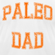 Design ~ Paleo Dad Men's T-Shirt (Orange Logo)