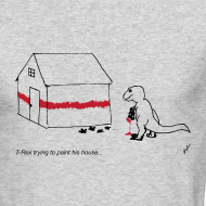 Design ~ T-Rex Painting House - Long Sleeve