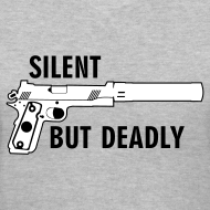 Design ~ Womens V-Neck : Silent But Deadly