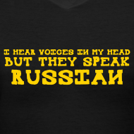 Design ~ Ladies V-Neck : Russian Voices