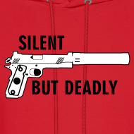 Design ~ Mens Hoodie : Silent But Deadly