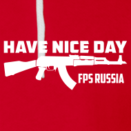 Design ~ American Apparel Zipper : Have Nice Day AK-47