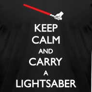 Design ~ Keep Calm Red Lightsaber