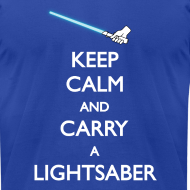 Design ~ Keep Calm Blue Lightsaber