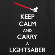 Design ~ Keep Calm Lightsaber Tote Bag