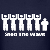 Design ~ Men's Navy/White Stop The Wave Logo T-Shirt