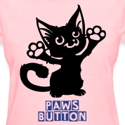 Paws Button - Dark on Light