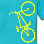 BMX Yellow- American Apparel AA Shirt (M)