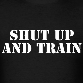Shut up and train  Gym Motivation T-shirts Hoodies Slim-fit tees Muscle shir...