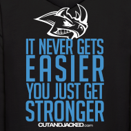 Design ~ Stronger | CutAndJacked | Mens hoodie (back Print)
