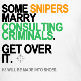 Design ~ Some Snipers Marry Consulting Criminals Long Sleeve White
