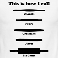 Design ~ This is how I roll (black on ringer T)