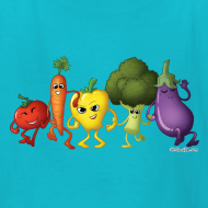 Design ~ Kids' Veggie Rainbow T-Shirt