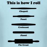 Design ~ This is how I roll (black on men's tee)