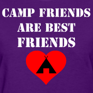 Design ~ Camp Friends are Best Friends - Women's Standard Weight T-Shirt