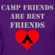 Design ~ Camp Friends are Best Friends - Silver Glitz Text