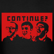 Design ~ Continue? Crew with Red Background