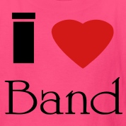 i_heart_band2 Kids' Shirts