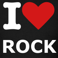 Design ~ Men's Black I love rock T