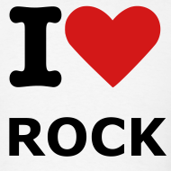 Design ~ Men's White I love rock T