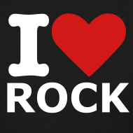 Design ~ Women's Black I love rock T