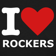 Design ~ Women's Blk. I love Rockers T