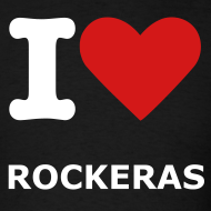 Design ~ Men's Blk. I love Rockeras T