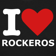 Design ~ Women's Blk. I love Rockeros T