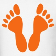 White Feet - Foot - Footprint - Footprints - toes Men