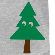 Heather grey christmas - tree T-Shirts (Short sleeve)