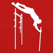 Red pole vaulter Women's T-shirts